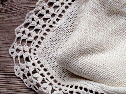 white woven blanket
